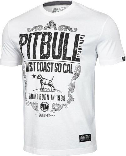 Pit Bull West Coast Koszulka Pit Bull Cal. Republic'20 - Biała M