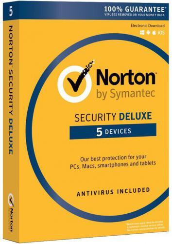 Symantec Norton Security Deluxe 3.0 PL 1 Użytkownik 5 Urządzeń 1 Rok (21357600)