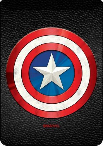 Kieszonka na kartę Kapitan Ameryka 001 Marvel czarna