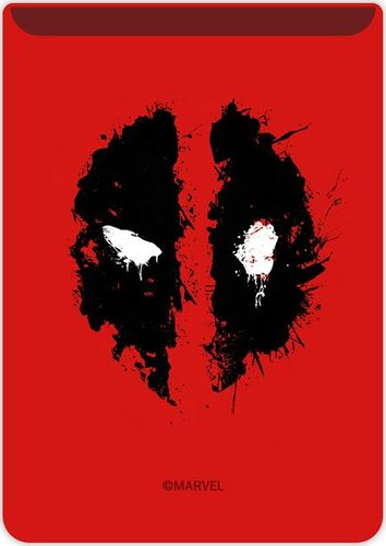 Kieszonka na kartę Deadpool 002 Marvel czerwona