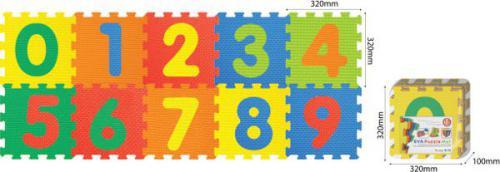 Smily Play Mata piankowa, cyfry 64x160cm - 1001B3