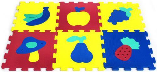 Artyk 6 elementów Puzzle piankowe Owoce X-ART-1016B-6