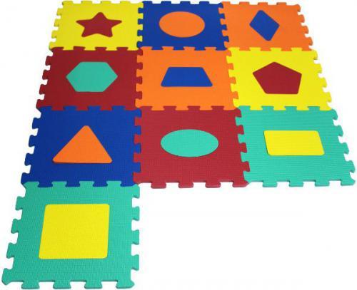 Artyk Puzzle piankowe Kształty 10 el. (1043B-10)