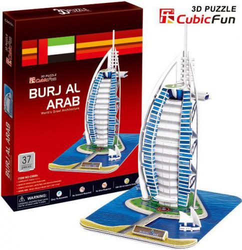 Cubicfun Budynek Buraj Al. Arabia Puzzle 3D (01037)