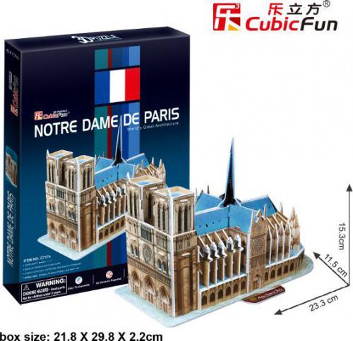 Cubicfun PUZZLE 3D Katedra Notere Dame 40 el. - C717H