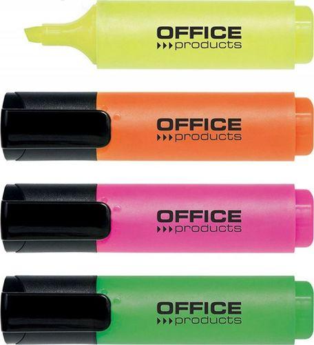 Office Products Zakreślacz 2-5mm (linia), 4szt., mix kolorów