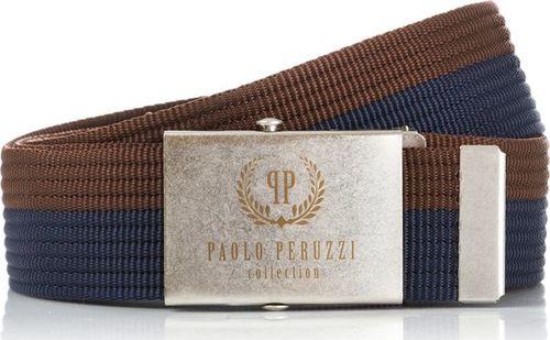 Paolo Peruzzi PASEK MĘSKI PAOLO PERUZZI PARCIANY BRĄZ PW-02-PP-115CM