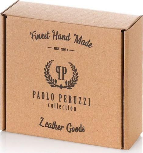 Paolo Peruzzi PARCIANY PASEK MĘSKI SZARY PAOLO PERUZZI PW-21-PP