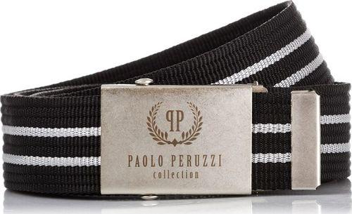 Paolo Peruzzi CZARNY PARCIANY MĘSKI PASEK PAOLO PERUZZI PW-03-PP-125CM