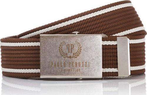 Paolo Peruzzi PASEK MĘSKI PAOLO PERUZZI PARCIANY BRĄZ PW-01-PP-125CM