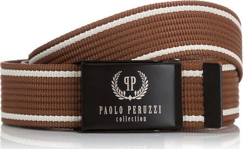 Paolo Peruzzi BRĄZOWY PASEK MĘSKI PAOLO PERUZZI PW-08-PP-115CM