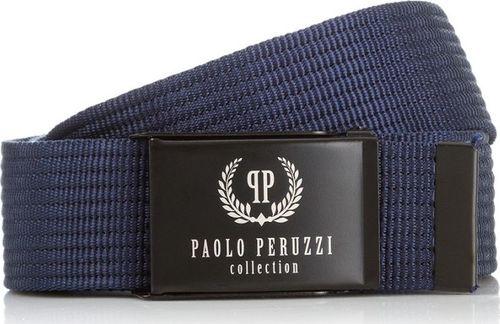 Paolo Peruzzi GRANATOWY PASEK PARCIANY PAOLO PERUZZI PW-09-PP-115CM