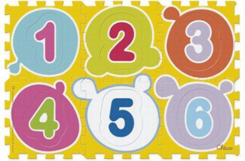 Chicco Miękka mata puzzle cyfry - 07161