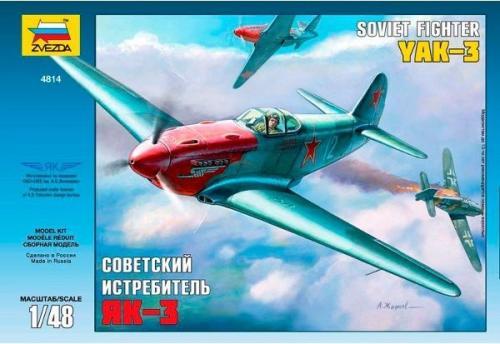 Zvezda Model plastikowy Soviet Fighter Yak3 - 4814