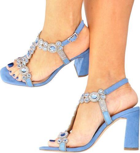 Menbur MENBUR 21651 MORSKI - Błyszczące sandały na słupku 35