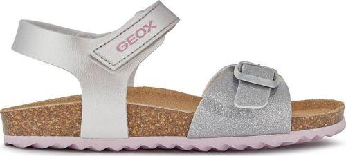 Geox GEOX Srebrne Sandały J028MC 29