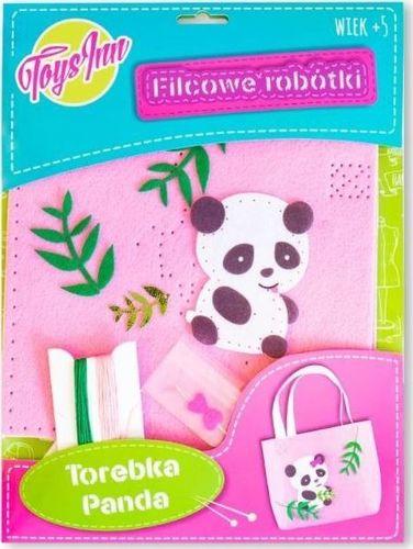 Stnux Filcowa torebka na ramię Panda różowa
