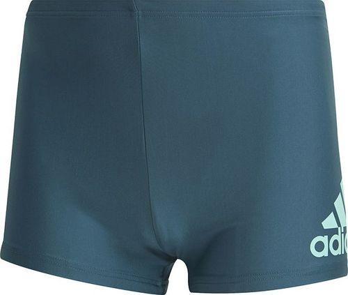 Adidas Kąpielówki Fitness Badge Swim Boxer GM3534 zielony M