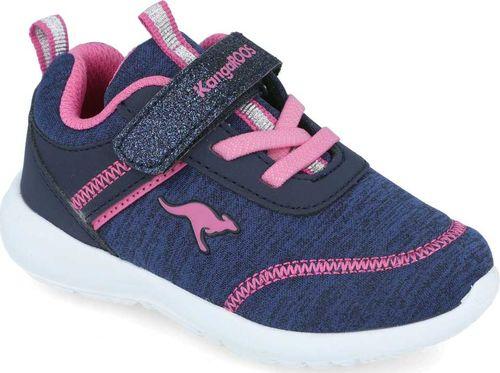 Kangaroos Sneakersy dziewczęce KangaROOS 02078 gramatowy 21