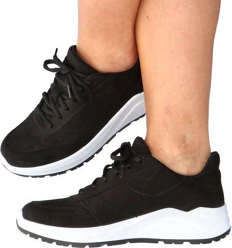 4f Skórzane buty sportowe - 4F MADE IN POLAND H4L21-250/21S CZARNY 36