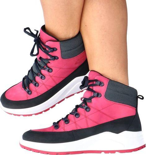 4f Skórzane buty za kostkę - 4F MADE IN POLAND H4L21-252/55S RÓŻOWE 38