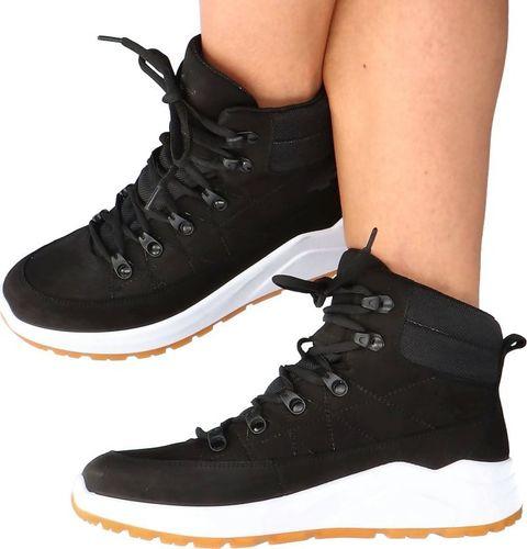 4f Skórzane buty za kostkę - 4F MADE IN POLAND H4L21-252/21S CZARNE 36