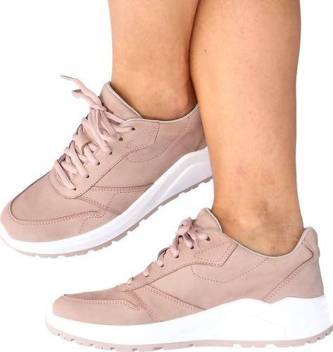 4f Skórzane buty sportowe - 4F MADE IN POLAND H4L21-250/56S JASNY RÓŻ 40