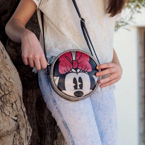 Torba na ramię Minnie Mouse Srebrzysty