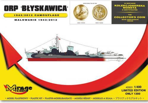 Mirage ORP Błyskawica Malowanie 1943 (400001)