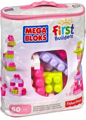 Mega Bloks First Builders - Torba różowa 60el. (DCH54)