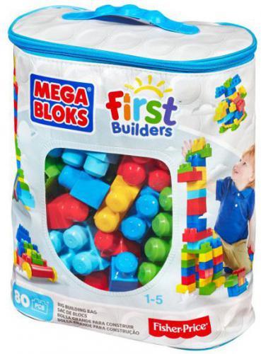 Mega Bloks First Builders - Torba niebieska 80el.  (CYP72/DCH63)