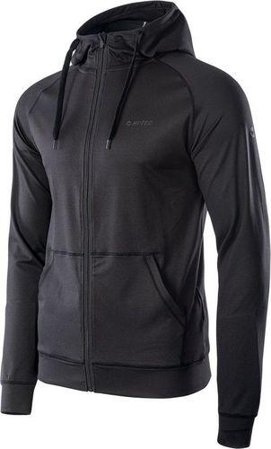 HI-TEC Męska bluza sportowa Hi-Tec Kosko z kapturem czarna rozmiar XL