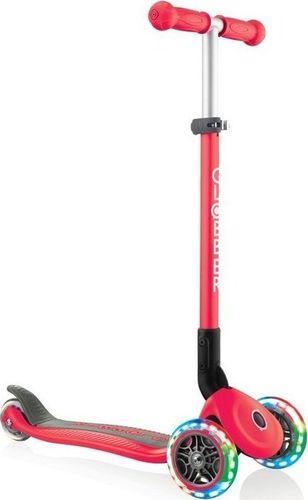 Globber Hulajnoga 3-kołowa Primo Foldable Lights 432-102-2 New Red