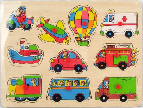 Brimarex Drewniane Puzzle Pojazdy 1562586