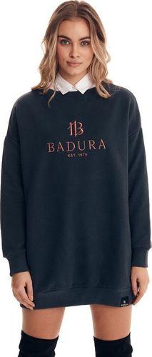 Badura Czarna bluza w wersji maxi zakładana przez głowę Badura S