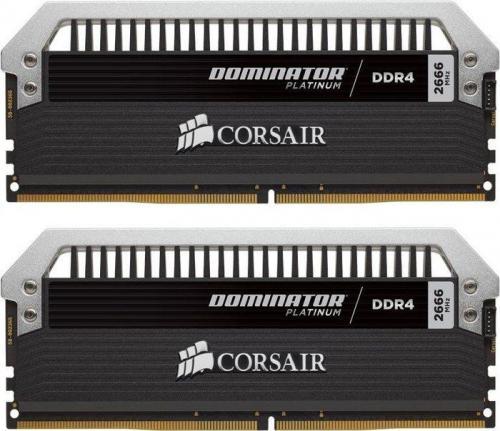 Pamięć Corsair Dominator Platinum DDR4, 2x16GB, 2666MHz,  CL15  (CMD32GX4M2A2666C15)