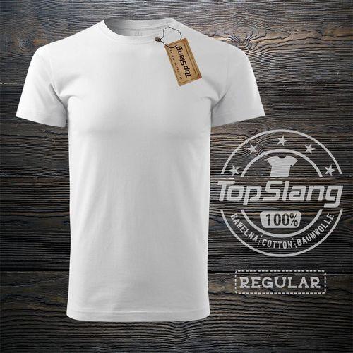 Topslang Topslang koszulka męska bawełniana biała na WF t-shirt męski biały REGULAR XL