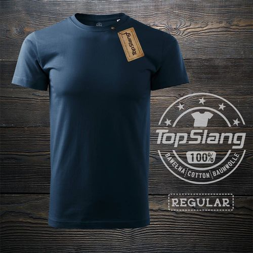 Topslang Topslang koszulka męska bawełniana granatowa t-shirt męski granatowy REGULAR M