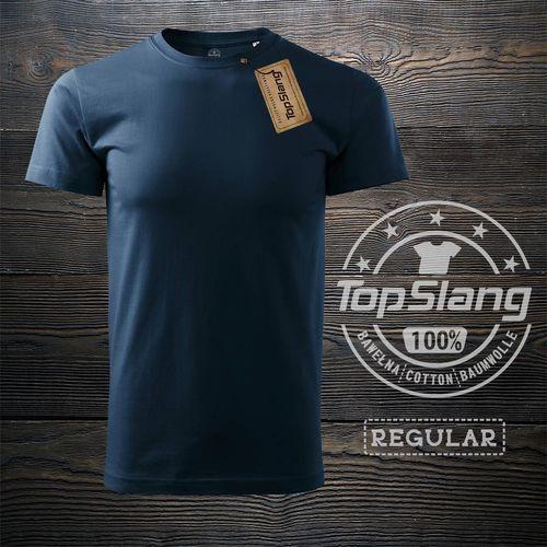 Topslang Topslang koszulka męska bawełniana granatowa t-shirt męski granatowy REGULAR XXL