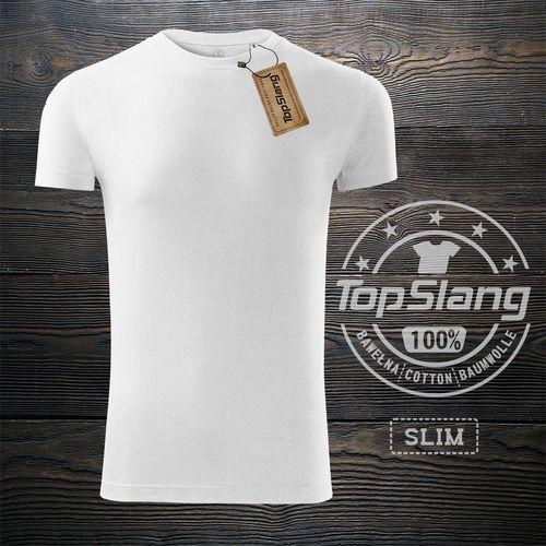 Topslang Topslang koszulka męska bawełniana biała na WF t-shirt męski biały SLIM XL