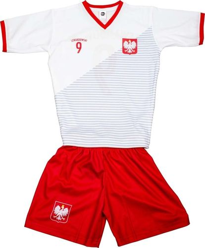 Reda Komplet Replika Polska 2018 Lewandowski biało-czerwony 140