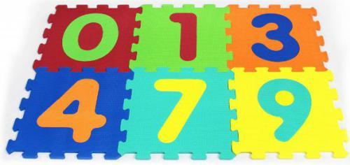Artyk Puzzle piankowe cyferki, 6 Elementów (X-ART-1001B-6)