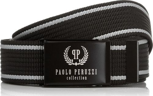 Paolo Peruzzi CZARNY PASEK MĘSKI PAOLO PERUZZI PW-10-PP-115 CM