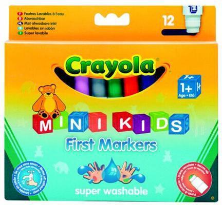 Crayola CRAYOLA Flamastry zmywalne mini 12 szt. - 8325