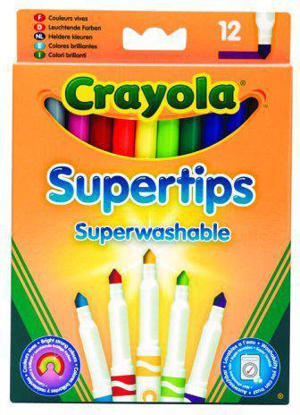 Crayola CRAYOLA Flamastry Supertips Pastel.12szt - 7509
