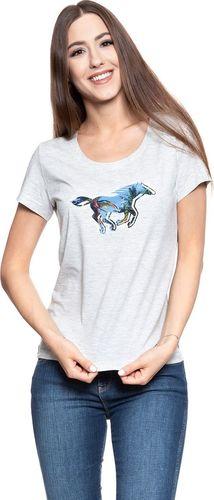Mustang MUSTANG Horse T-Shirt LIGHT GREY MEL. 1007523 4163 XL