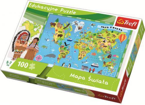 Trefl Mapa Świata dla dzieci (15502)