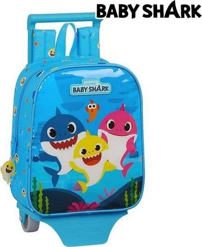 Baby Shark Torba szkolna z kółkami 805 Baby Shark Jasnoniebieski
