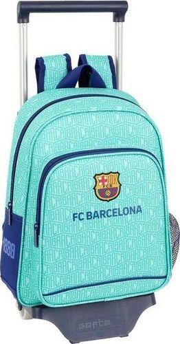 FC Barcelona Torba szkolna z kółkami 705 F.C. Barcelona 19/20 Turkusowy
