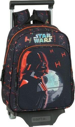 Star Wars Torba szkolna z kółkami Star Wars The Dark Side Czarny Pomarańczowy